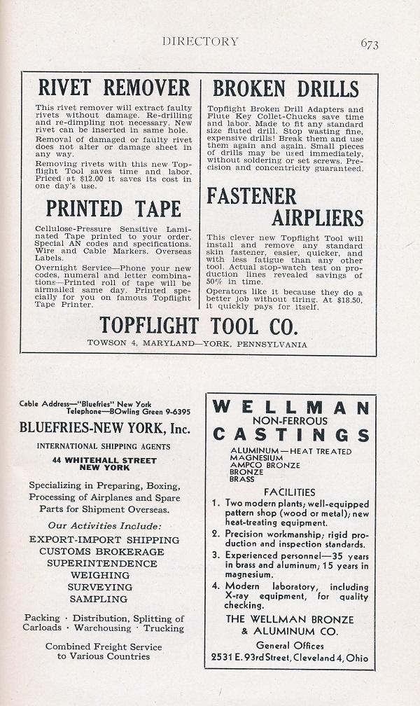 Aircraft Rivet Codes