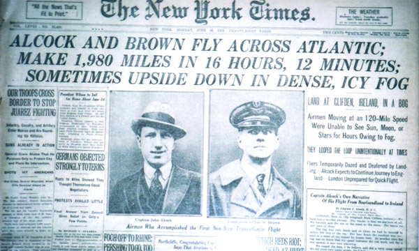 Image result for alcock and brown transatlantic flight