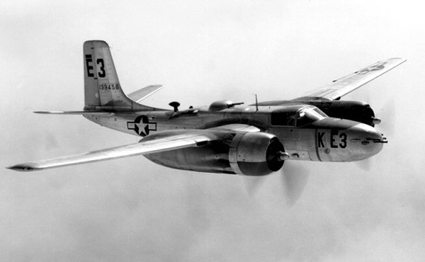 douglas a 26 invader B-26 Aircraft the invader came in some 700 lbs 317 kg below its designed weight and it was able to carry more than twice as many bombs than the usaac requirement