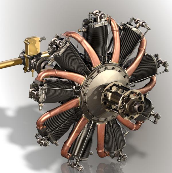Le Rh U00f4ne Rotary Engine