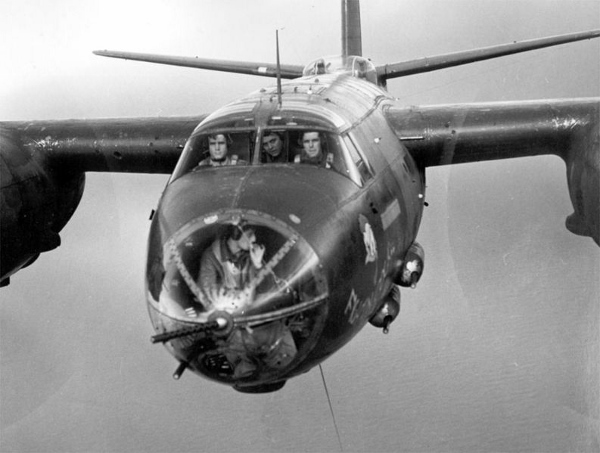 later models of the marauder had as many guns as the boeing b-17 flying  fortress and as many fixed guns as some fighter aircraft