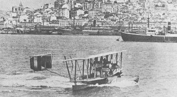 Albert Read and crew complete trans-Atlantic crossing in Lisbon, Portugal May 28, 1919